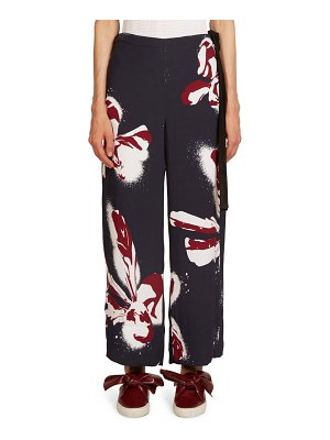 C dric Charlier Orchid Printed Pants