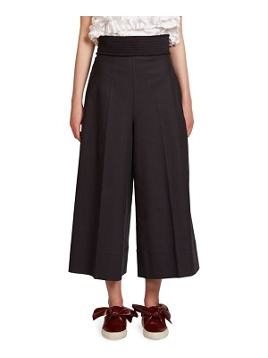 C dric Charlier Smocked Culotte