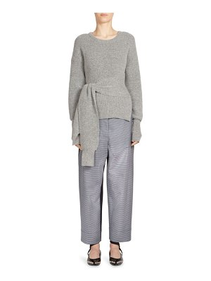 C dric Charlier Wool Tie-Front Sweater