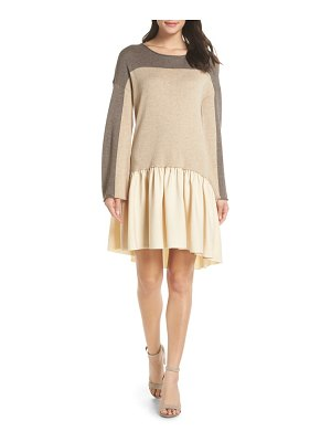 CAARA colorblock cashmere dress