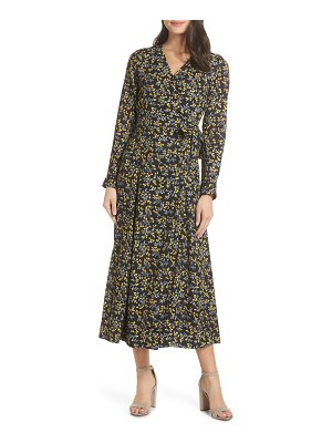 CAARA cristal wrap midi dress