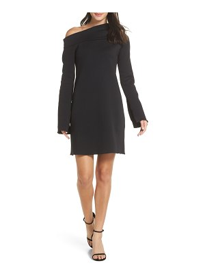 CAARA grant one-shoulder bell sleeve shift dress