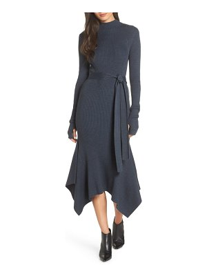 CAARA ribbed asymmetrical dress