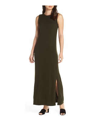 CAARA split hem knit maxi dress