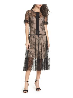 CAARA street sheer lace midi dress