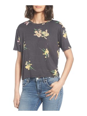 CALIBE floral print distressed tee