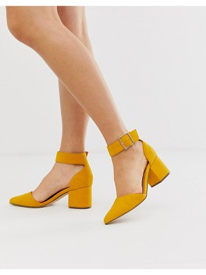 Call it Spring by aldo agraleria ankle strap heeled pumps in mustard-yellow