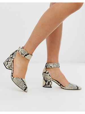 Call it Spring by aldo agraleria ankle strap heeled pumps in snake print-multi