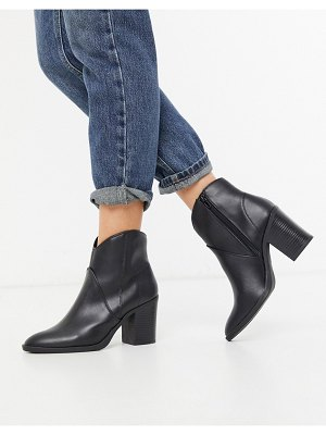 Call it Spring by aldo cecily heeled western ankle boot in black