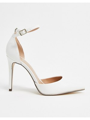 Call it Spring by aldo iconis vegan heeled pumps with ankle strap in white