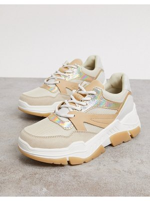 Call it Spring by aldo starrynight vegan chunky sneakers in camel-beige