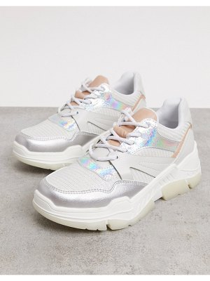 Call it Spring by aldo starrynight vegan chunky sneakers in irridescent-white