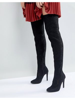 Call it Spring Call It Spring Black Over the Knee Boots