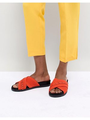 Call it Spring Call It Spring Nydeladda Red Flatform Sliders