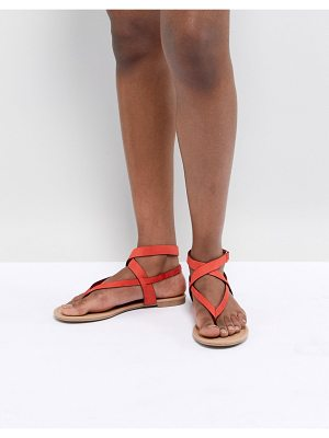 Call it Spring Call It Spring Red Tie Up Flat Sandals