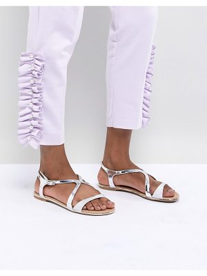 Call it Spring call it spring silver flat sandals