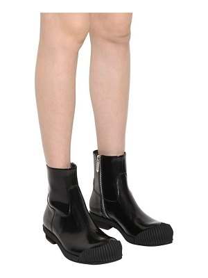 CALVIN KLEIN 205W39NYC 50mm deicine brushed leather ankle boots