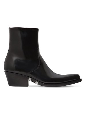 CALVIN KLEIN 205W39NYC 50mm tiesa brushed leather cowboy boots