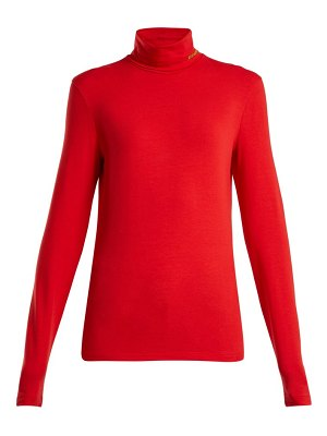CALVIN KLEIN 205W39NYC Calvin Klein 205w39nyc - Roll Neck Cotton Blend Top