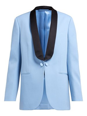 Calvin Klein silk-satin lapel wool tuxedo jacket
