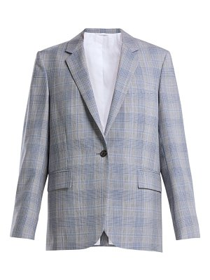 Calvin Klein windowpane check wool blazer