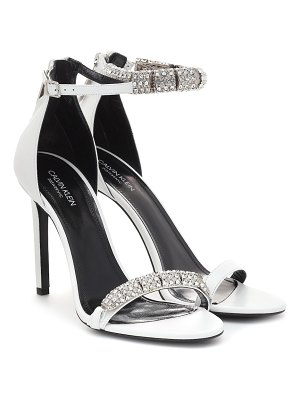 CALVIN KLEIN 205W39NYC camelle embellished leather sandals