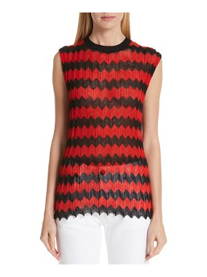 CALVIN KLEIN 205W39NYC chevron stripe wool tank top
