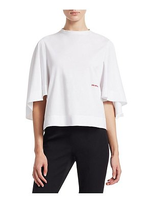 CALVIN KLEIN 205W39NYC embroidered cape tee