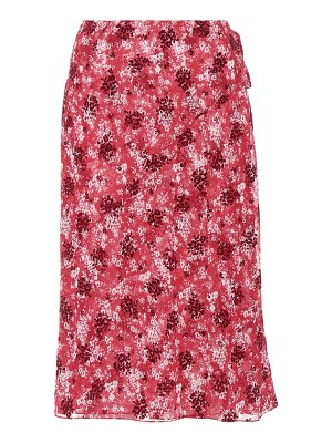 CALVIN KLEIN 205W39NYC floral-printed wrap skirt