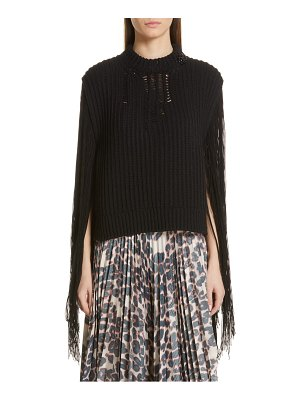 CALVIN KLEIN 205W39NYC fringe sleeve sweater