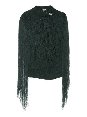 CALVIN KLEIN 205W39NYC fringed sweater