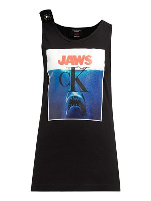 Calvin Klein jaws-print ribbed stretch-cotton tank top