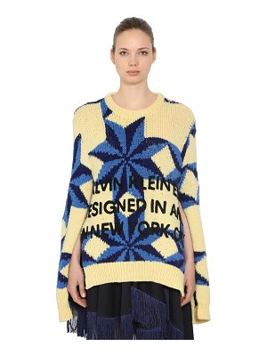 CALVIN KLEIN 205W39NYC Open sleeves wool intarsia sweater
