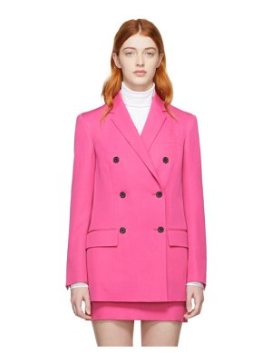CALVIN KLEIN 205W39NYC pink wool double-breasted blazer