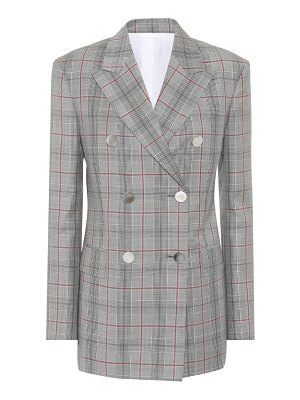 CALVIN KLEIN 205W39NYC Plaid double-breasted wool blazer
