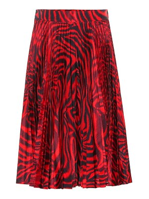 CALVIN KLEIN 205W39NYC Printed silk-blend skirt