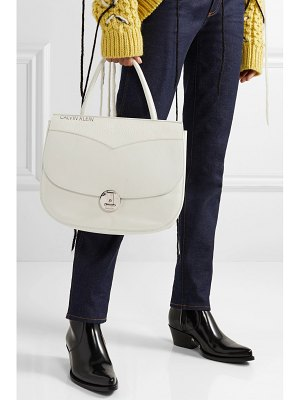 CALVIN KLEIN 205W39NYC round lock embossed leather tote