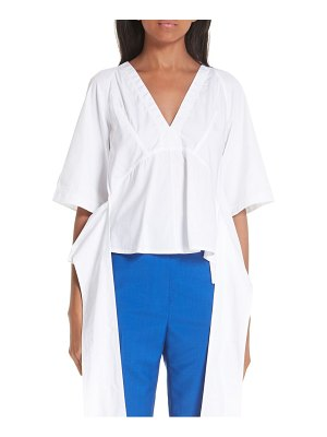 CALVIN KLEIN 205W39NYC sash detail cotton poplin top