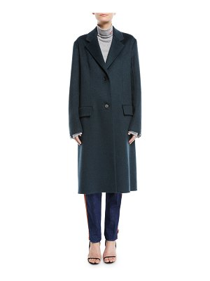 CALVIN KLEIN 205W39NYC Slim Notched-Collar Two-Button Cashmere Coat