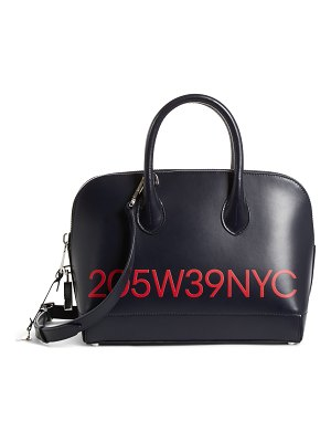 CALVIN KLEIN 205W39NYC small dalton calfskin leather satchel
