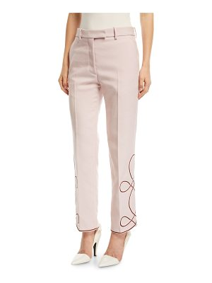 CALVIN KLEIN 205W39NYC Straight-Leg Pants with Embroidered Hem