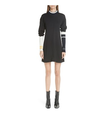 CALVIN KLEIN 205W39NYC stripe sleeve logo knit dress