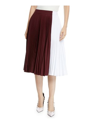 CALVIN KLEIN 205W39NYC Two-Tone Pleated Midi Circle Skirt