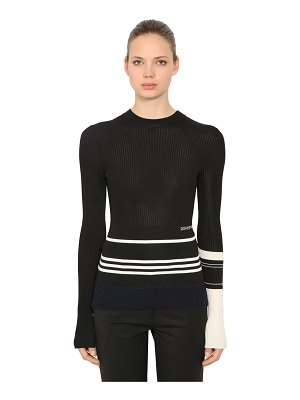 CALVIN KLEIN 205W39NYC Viscose & wool blend rib knit sweater