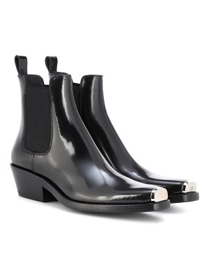CALVIN KLEIN 205W39NYC western claire leather ankle boots