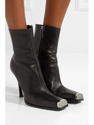 CALVIN KLEIN 205W39NYC wilamiona metal-trimmed leather ankle boots