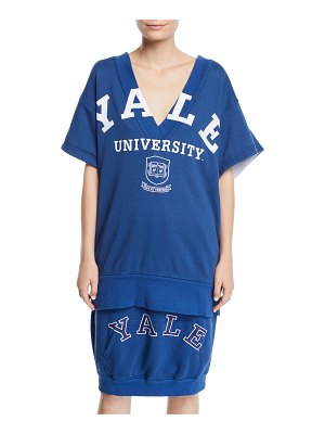 CALVIN KLEIN 205W39NYC Yale University V-Neck Short-Sleeve Cotton Terry Top