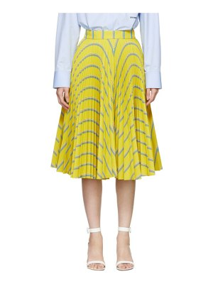 CALVIN KLEIN 205W39NYC yellow soleil pleated skirt