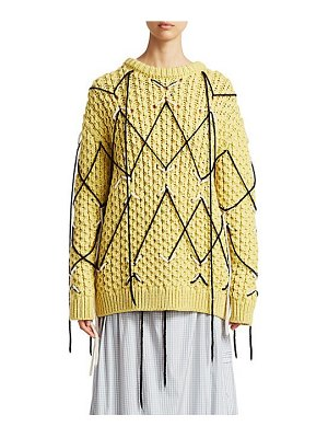 CALVIN KLEIN 205W39NYC zigzag wool mohair knit sweater