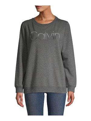 Calvin Klein Logo Cotton-Blend Sweatshirt